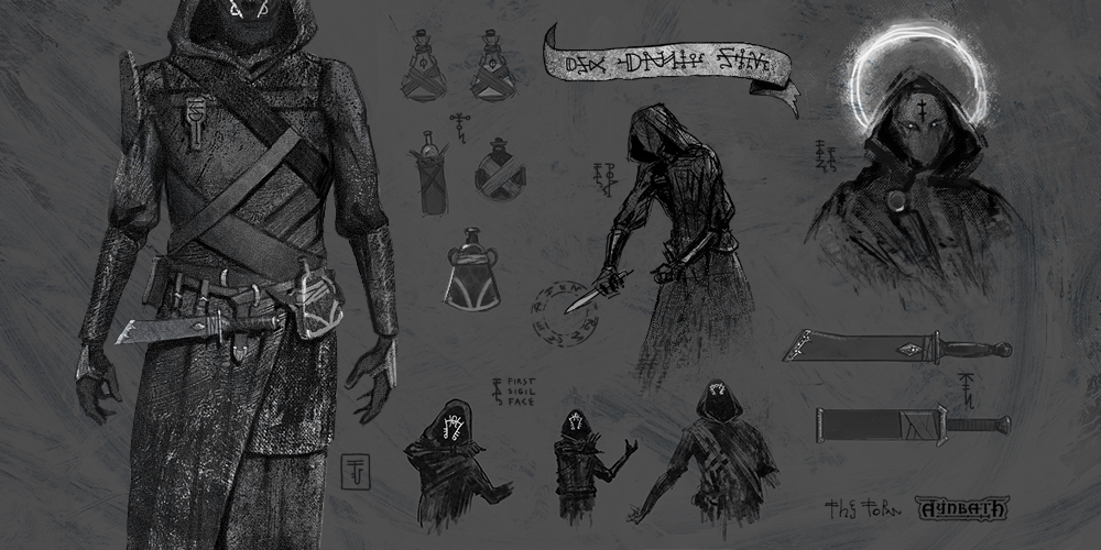 occult mage character art