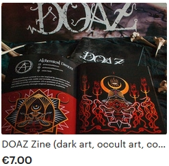 dark occult art zine